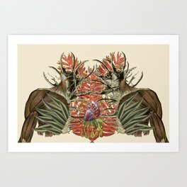 fuerte anatomical collage by bedelgeuse Art Print