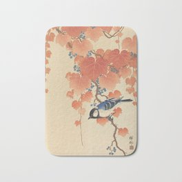 Ohara Koson - Japanese Bird Blockprint Bath Mat