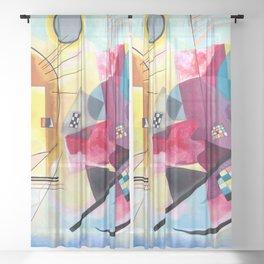Wassily Kandinsky - Yellow Red Blue Sheer Curtain
