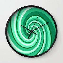 Turquoise Treat Tasty Twirl Wall Clock