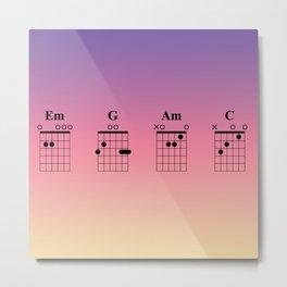 Guitar Tab Em G Am C Metal Print