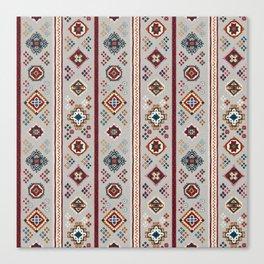 Caucasian Rugs(Stripe) - White Canvas Print