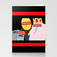supreme Stationery Cards featuring Supreme Time! by Miss K'Tahni