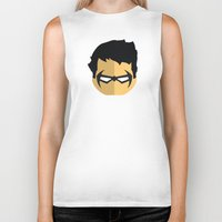 nightwing Biker Tanks featuring Nightwing by Oblivion Creative