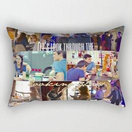 Let's look through the looking glass. Rectangular Pillow