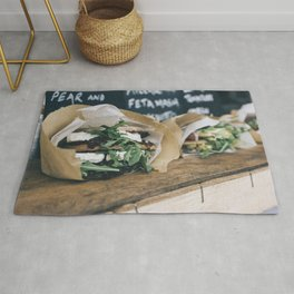 Healthy sandwiches with cheese and vegetables Rug