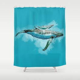 The beauty of a mothers love - Humpback Whales Shower Curtain