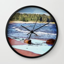 Lake Superior Bay Wall Clock