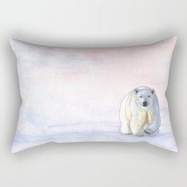 Polar bear in the icy dawn Rectangular Pillow