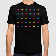Origami cranes pattern Black MEDIUM Mens Fitted Tee