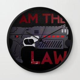 I AM THE LAW Wall Clock