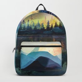 Mountain Lake Under Sunrise Backpack