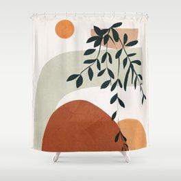 Soft Shapes I Shower Curtain