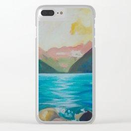 Colourful Seascape Clear iPhone Case