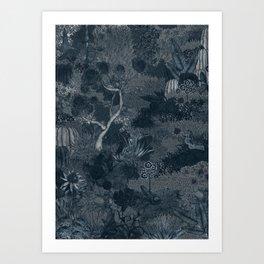 Treasure Chambers at Night Art Print