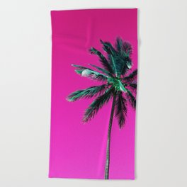 Palm Tree PR Beach Towel