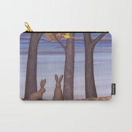 brown bunnies in autumn Carry-All Pouch