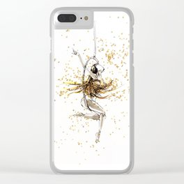Waking up to a dream Clear iPhone Case