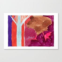 Wild Turkey on Ice Canvas Print