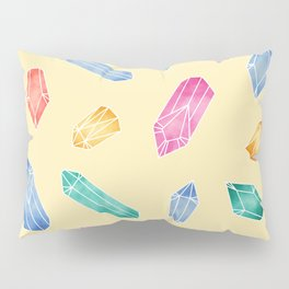 Crystals pattern - Yellow Pillow Sham