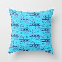 egypt Throw Pillows featuring Egypt by FarrellArt