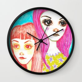 The Catch Up Girls Wall Clock