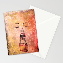 woman scream Stationery Cards