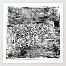 Elephant Printwork Art Print