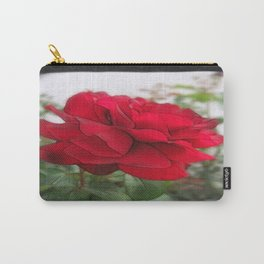 Red Rose Edges Blank P4F0 Carry-All Pouch
