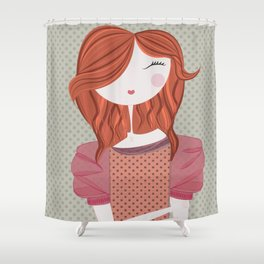Fashion Doll Illustration 3 Shower Curtain