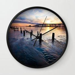 Gulf Coast Sunset Wall Clock