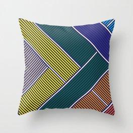 Dark Geometrical Throw Pillow