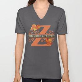 Thanksgiving Z Monogram Unisex V-Neck