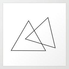 Double Triangles Art Print