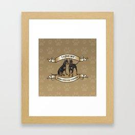 I Love My Manchester Terrier Framed Art Print