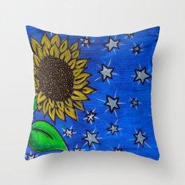 Boo's Sunflower Throw Pillow