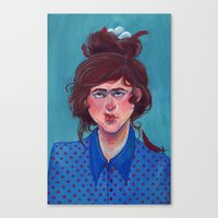birdy Canvas Prints featuring Birdy by Alice Holleman