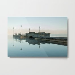 Cazenovia Lake On A Misty Morning Metal Print