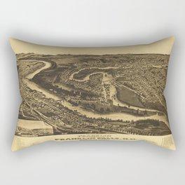 Franklin and Franklin Falls, New Hampshire (1884) Rectangular Pillow