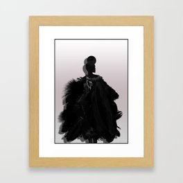People will stare. Make it worth their while. Framed Art Print