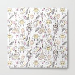Boho dreamer pattern Metal Print