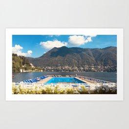 Villa d'Este pool Lake Como Art Print