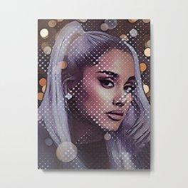 Ariana Singer Brilliant Glitter Tape Side Fresh Attitude Metal Print