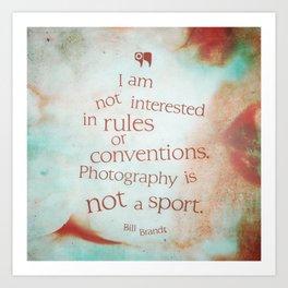 not a sport Art Print
