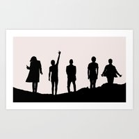 1d Art Prints featuring 1D Silhouettes by LithiumCrystal
