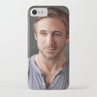 ryan gosling iPhone & iPod Cases featuring Ryan Gosling by Mailys Brau