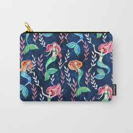 Merry Mermaids in Watercolor Carry-All Pouch