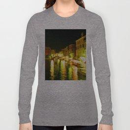 Italy. Venice Night lights Long Sleeve T-shirt
