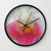 orchid Wall Clocks featuring Orchid by Dirk Petzold
