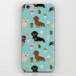 dachshund ice cream multi coat doxie dog breed cute pattern gifts iPhone Skin